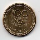 Australia, 1 Dollar, 2014, 100 years of ANZAC