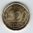 Lithuania, 20 Euro Cent, 2015